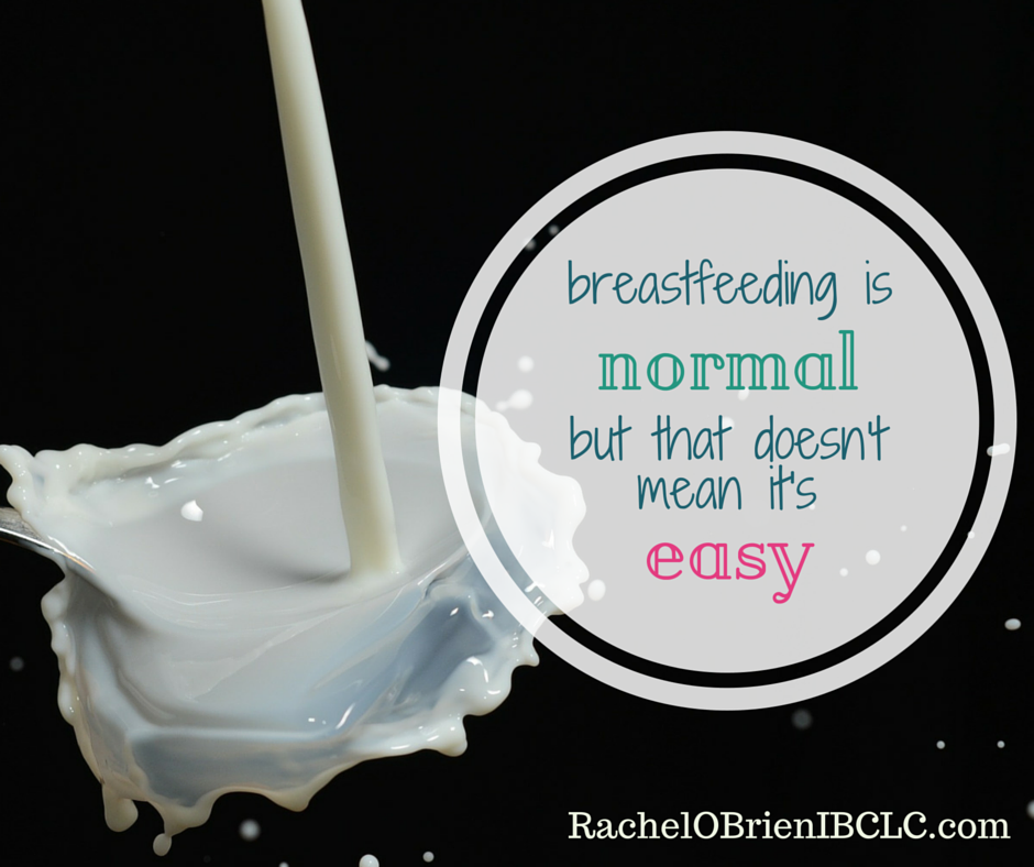 breastfeeding isn't easy