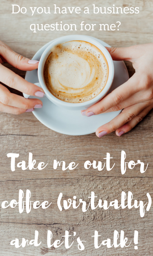 book a virtual coffee date with rachel and ask a business question for $5